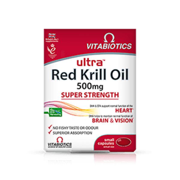 Vitabiotics Ultra Red Krill Oil x30