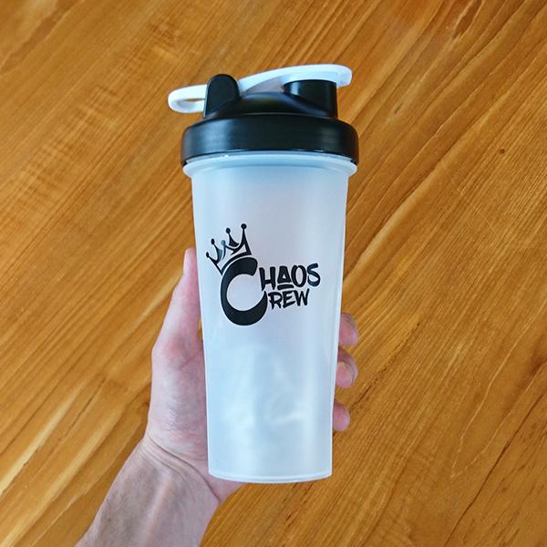 Chaos Crew Blender Bottle Shaker - Clear / Black