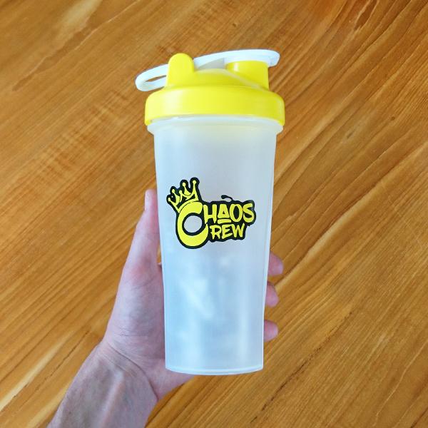 Chaos Crew Blender Bottle Shaker - Yellow
