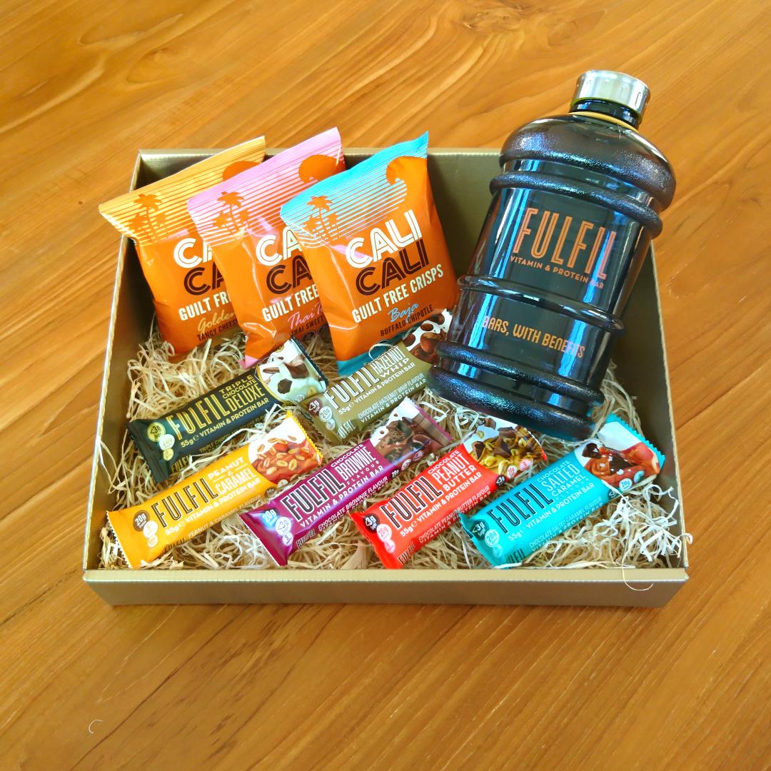 Protein Gift Basket / Fitness Hamper (Fulfil Bars & Cali Cali Crisps)
